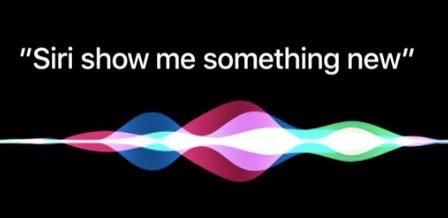 Viser teksten Siri show me something new