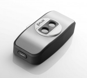 Billede ar en Flir One varmefølsomt kamera til iPhone