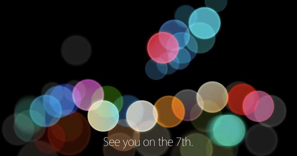Apple viser os deres iPhone 7 den 7 september