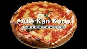 Lektionsbillede til lektion 46 hvor vi starter med at kode en just eat agtig app i swift. Billedet er en pizza.