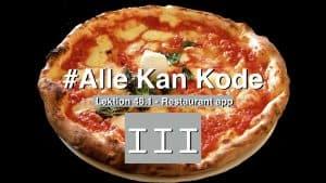 Pizza med romertal 3