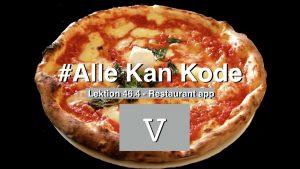 Lektionsbillede til lektion 46.4 som er del 5 hvor vi bygger en Just Eat kopi app sammen - Billedet forestiller en pizza