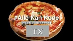 Pizza med romertal 9 foran